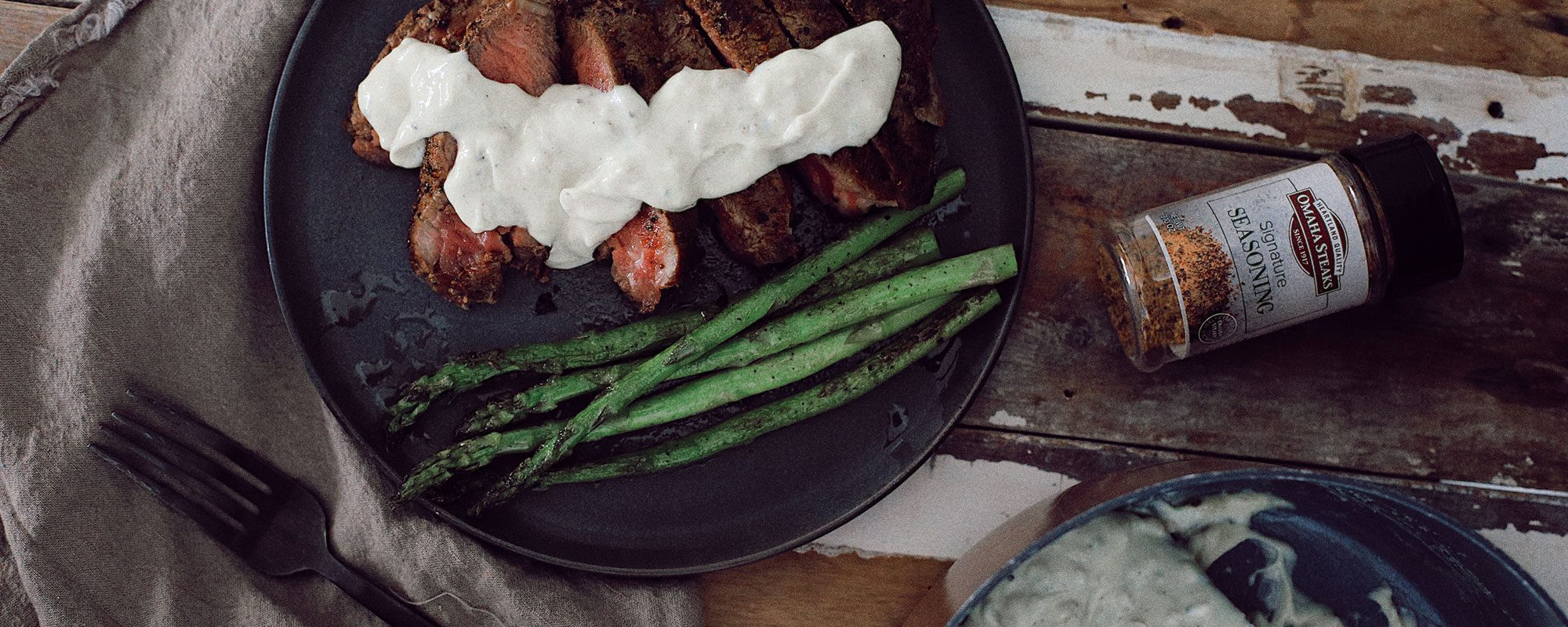 Pan-Seared Ribeye Steak with Gorgonzola Cream Sauce