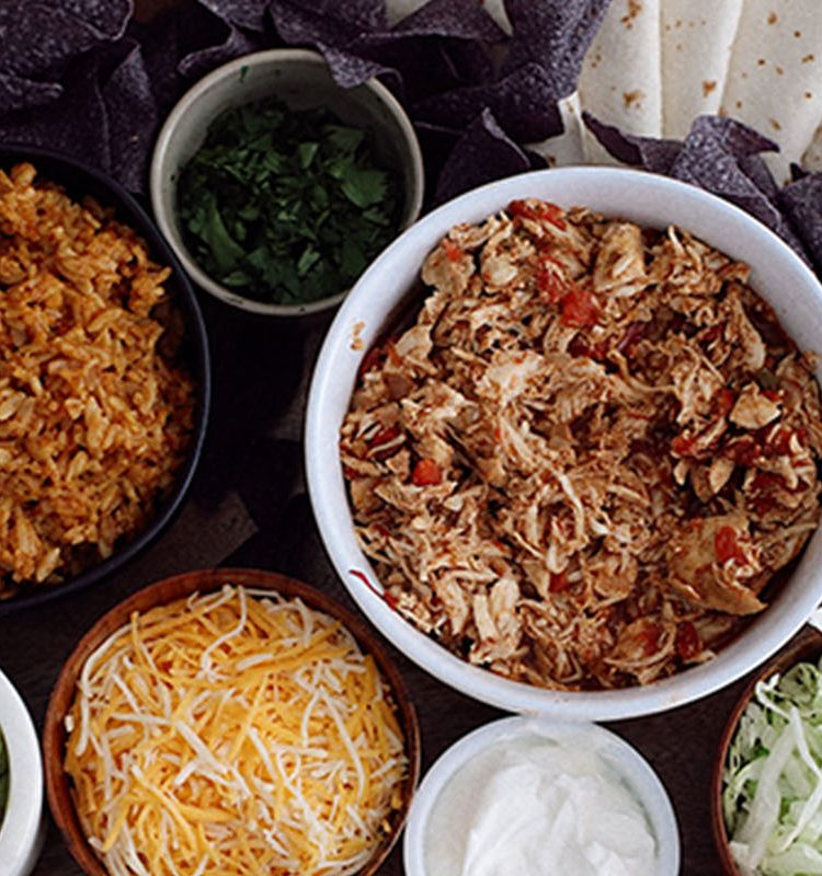 Dump and Go Instant Pot Recipes: Chicken Tacos and Taco Party Platter
