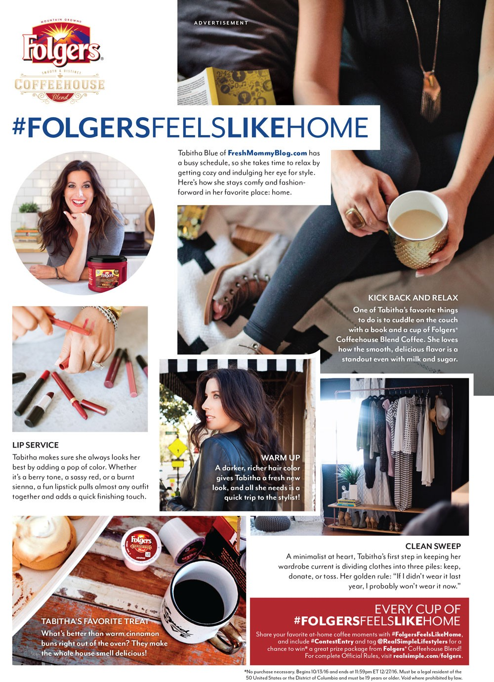 Folgers In Style Magazine feature