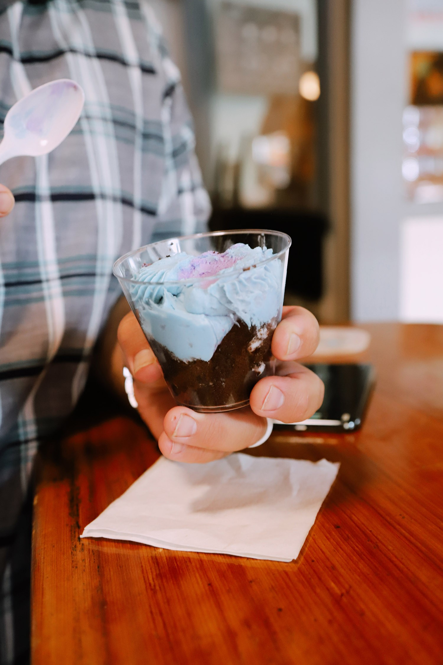 Spectacular Lake County, Florida Staycation Ideas for the Family! | Lake County by popular Florida blog, Fresh Mommy Blog: image of a man holding a dessert cup.