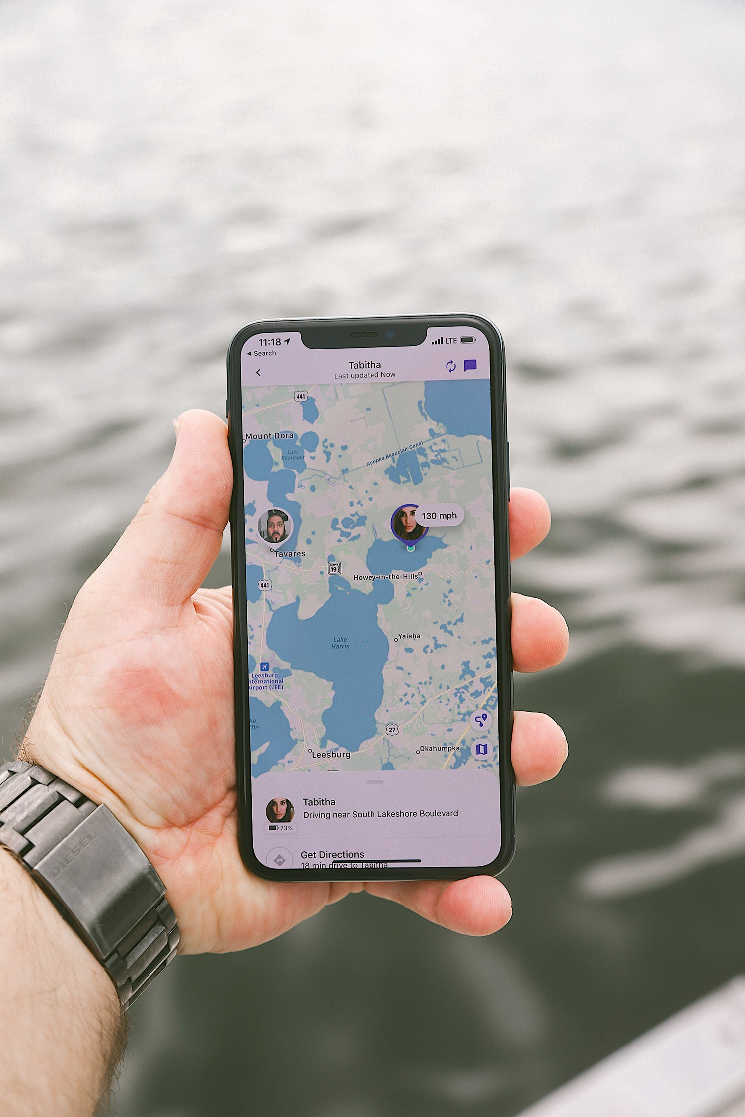 Spectacular Lake County, Florida Staycation Ideas for the Family! | Lake County by popular Florida blog, Fresh Mommy Blog: image of google maps on a smart phone.