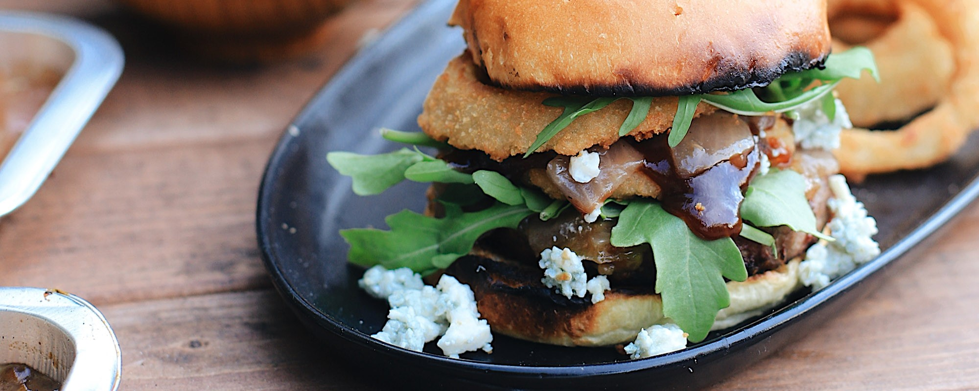BBQ Bacon Blue Burger for a Tasty Backyard Barbecue