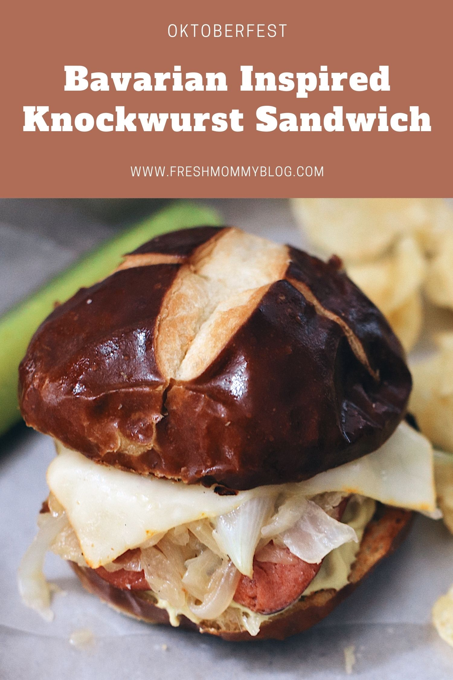 Frankenmuth, MI Bavarian Inspired Octoberfest Knockwurst Sandwich!