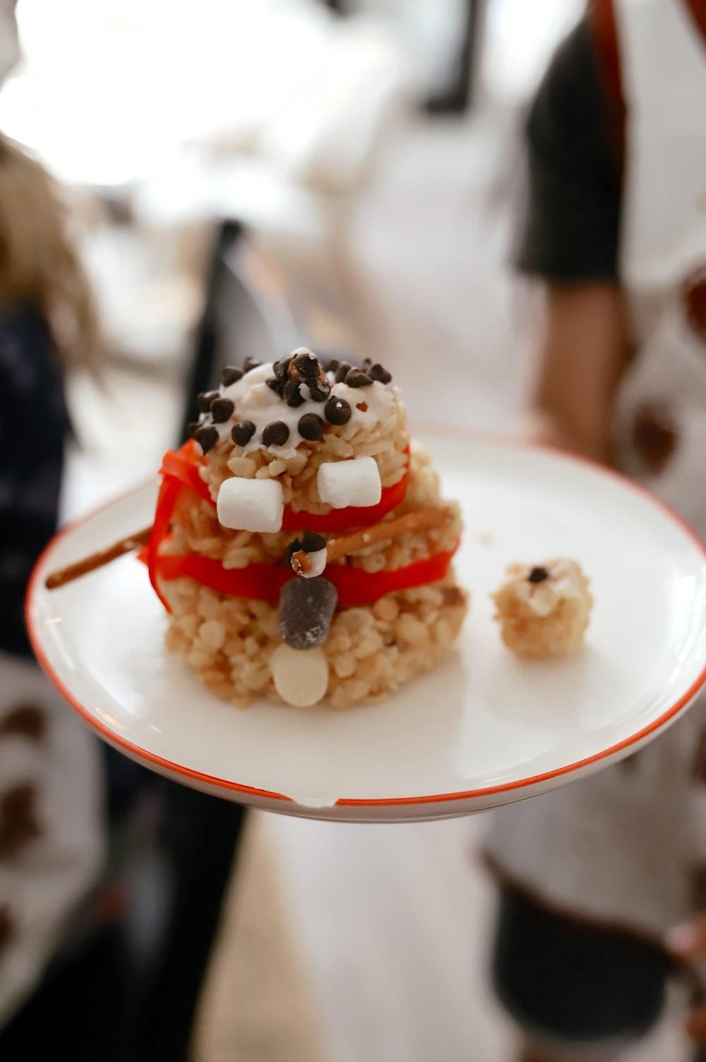 Festive Rice Krispies Snowman Christmas Activity