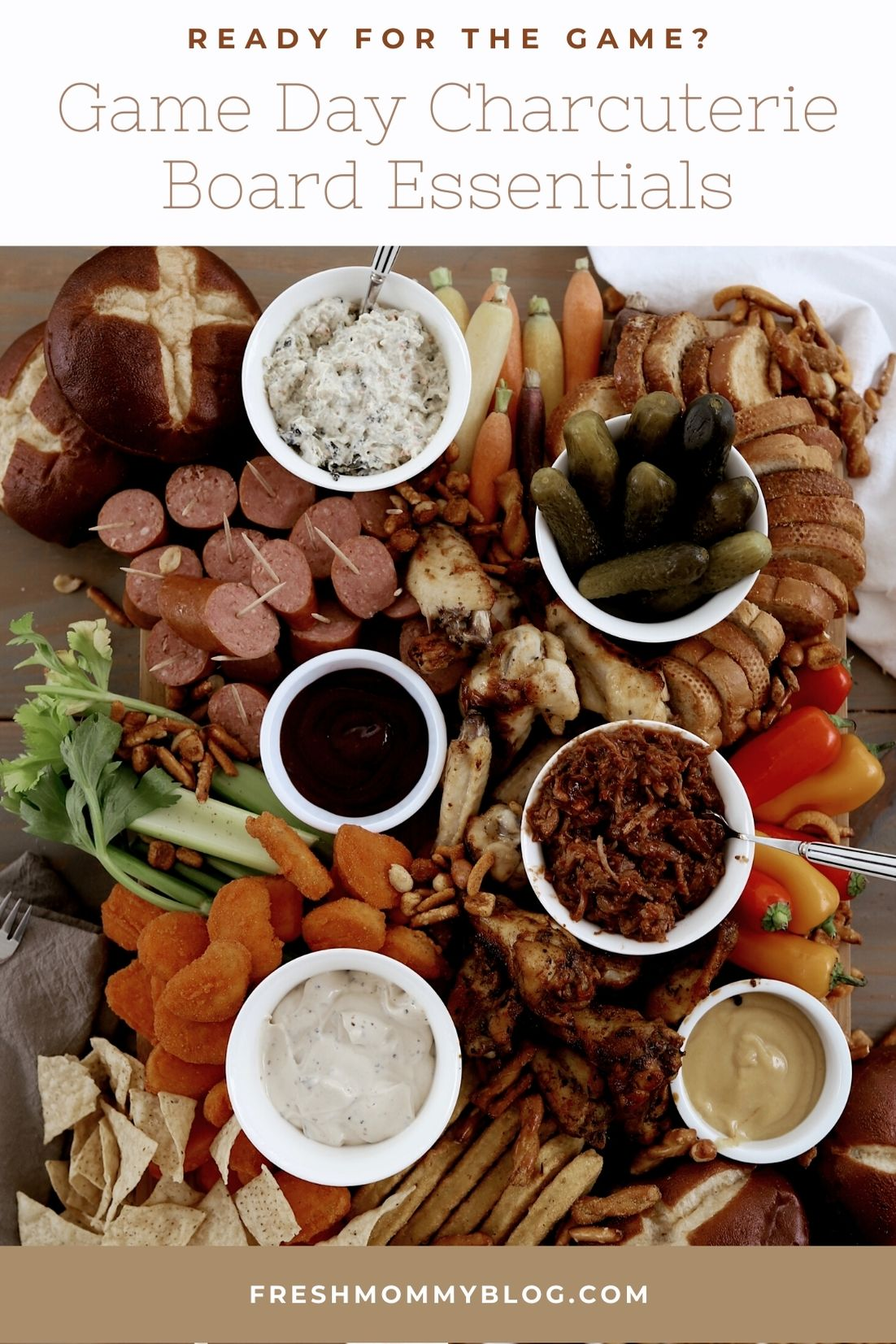 Game Day Appetizer Ideas: Charcuterie Board Essentials featured by top FL lifestyle blogger, Fresh Mommy Blog.