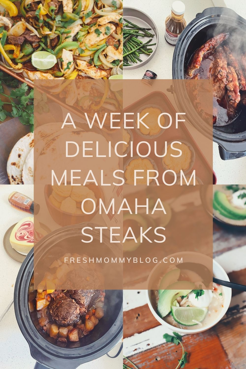 Omaha Steaks Meals featured by top FL lifestyle blogger, Tabitha Blue of Fresh Mommy Blog. | Omaha Steaks Meals by popular Florida lifestyle blog, Fresh Mommy Blog: Pinterest image of Omaha Steaks meals.