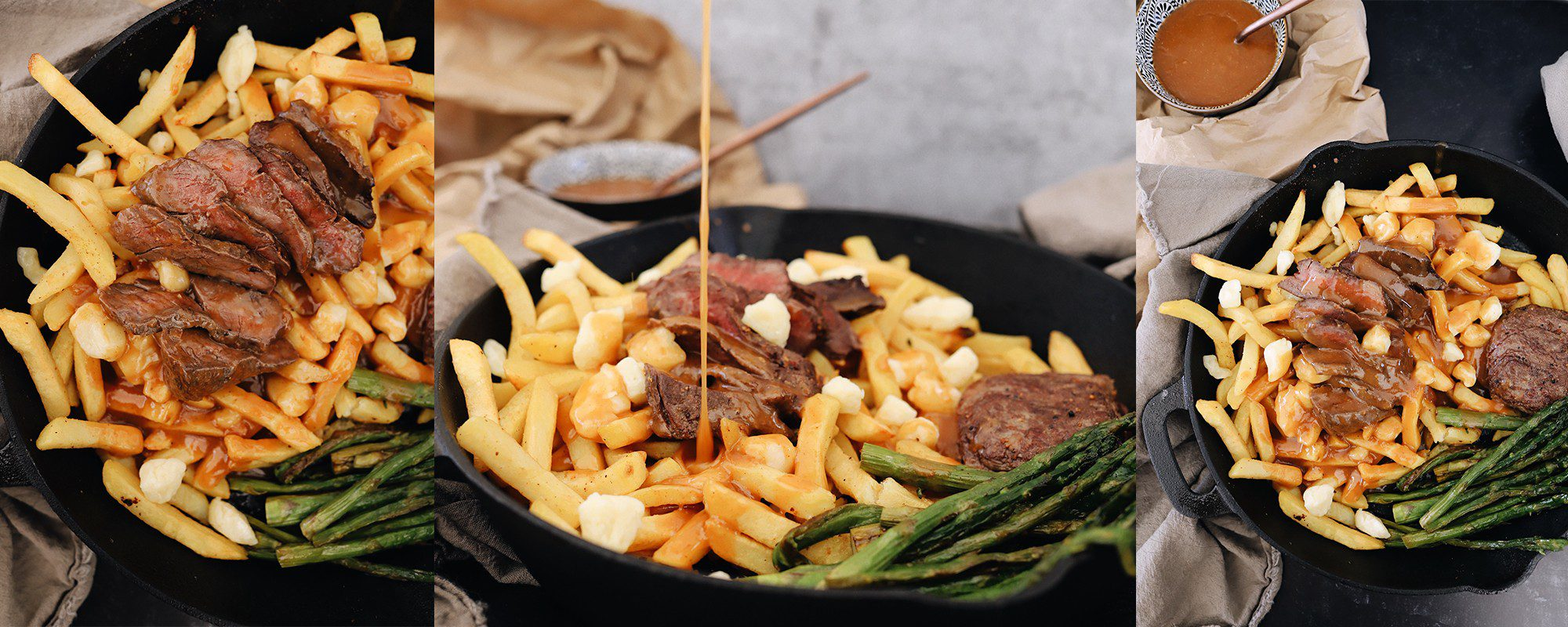 An Easy Steak Poutine Recipe with Fries and Gravy