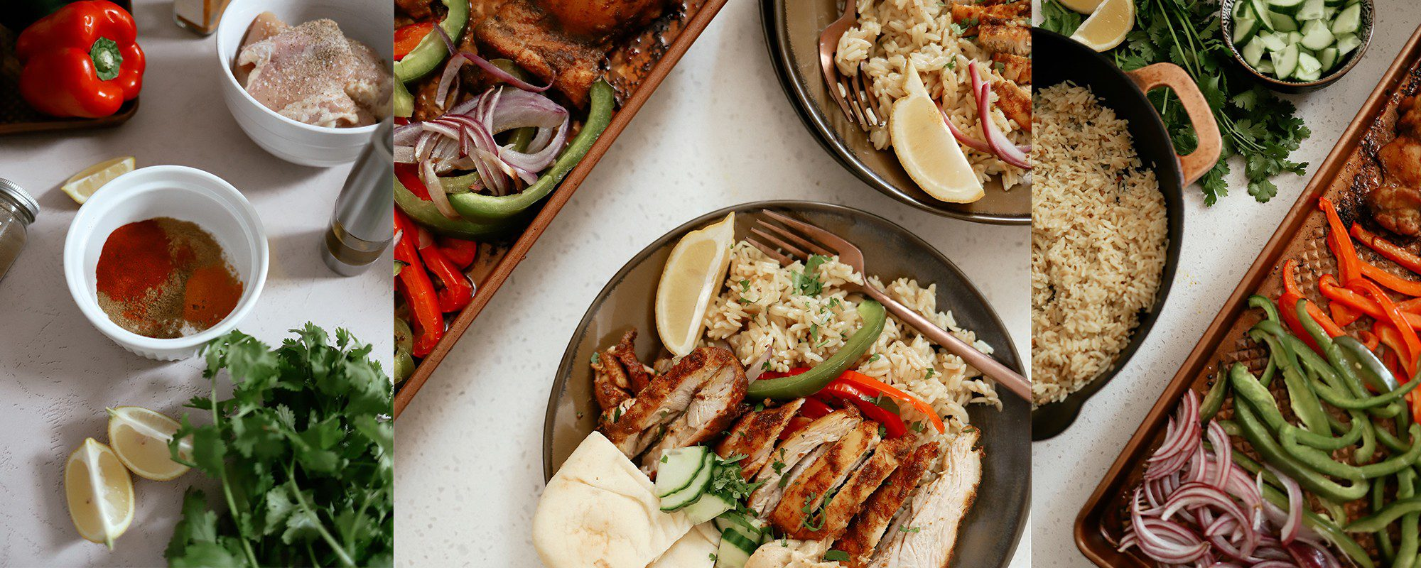 Sheet Pan Chicken Shawarma with Rice Recipe